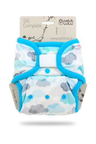 Petit Lulu SIO Complete Klett Onesize (4-15kg) Clouds