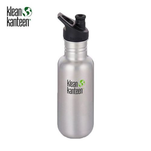 Klean Kanteen Classic 532ml Sport 3.0 Brushed Stainless Steel