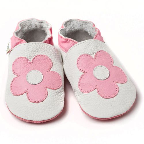 Liliputi Soft Baby Shoes Pink Flowers