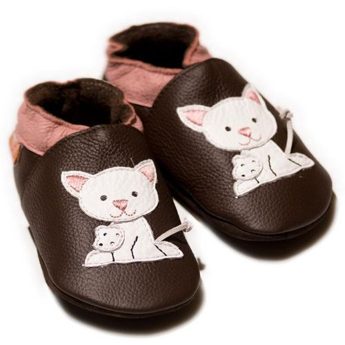 Liliputi Soft Baby Shoes Pussycat Brown