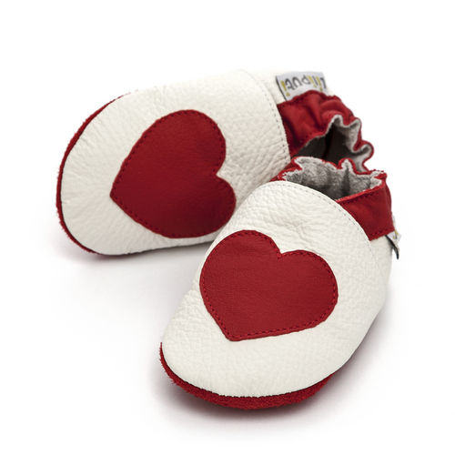 Liliputi Soft Baby Shoes Red Love