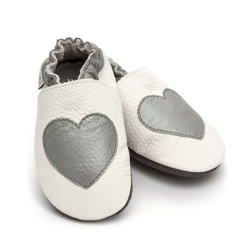 Liliputi Soft Baby Shoes Silver Love