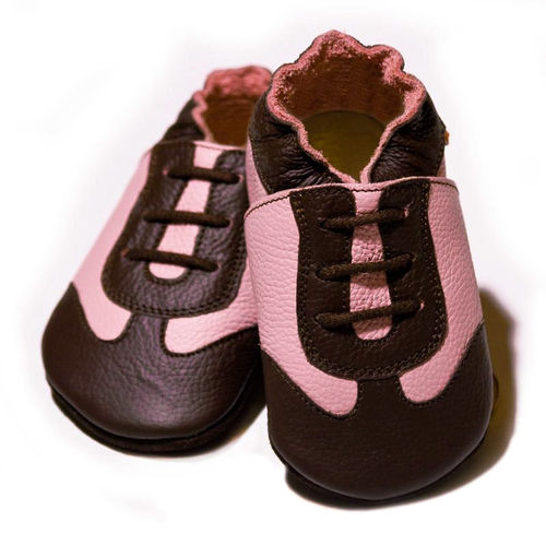 Liliputi Soft Baby Shoes Sport pink brown