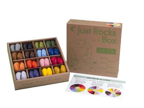 Crayon Rocks in Box 16 Farben/64 Stk.